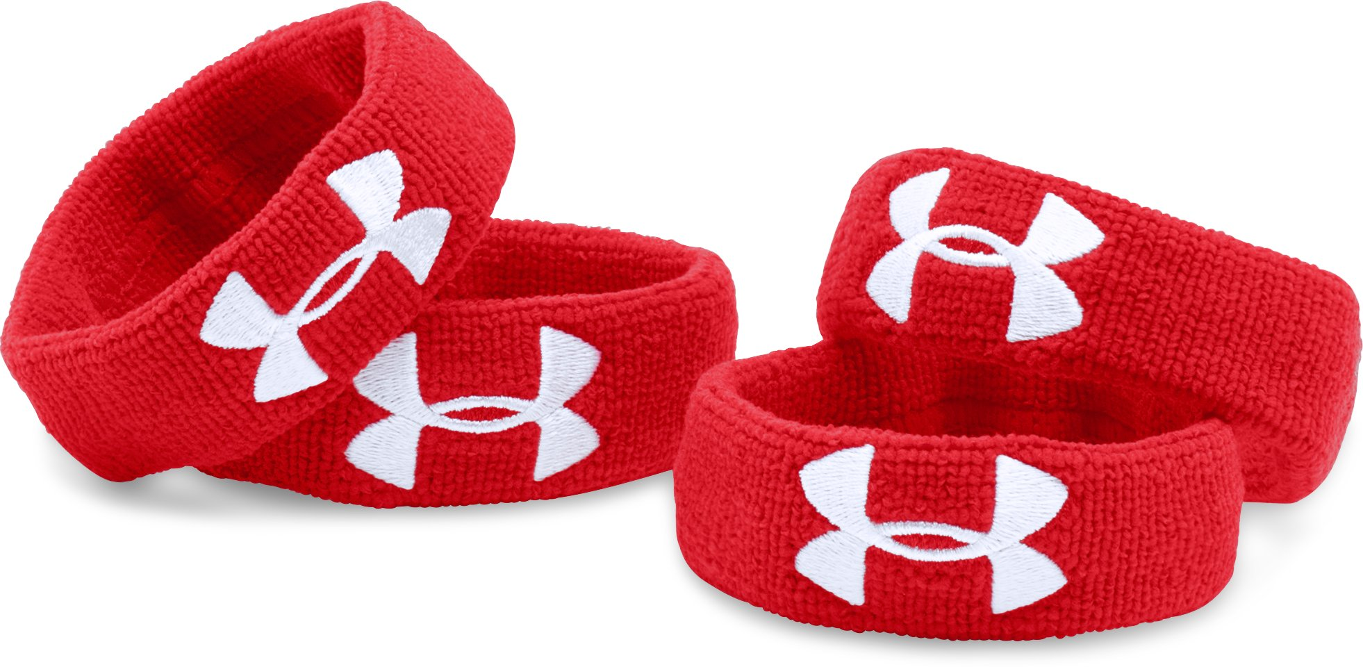 "UA 1"" Performance Wristband 4-Pack, Red, undefined"