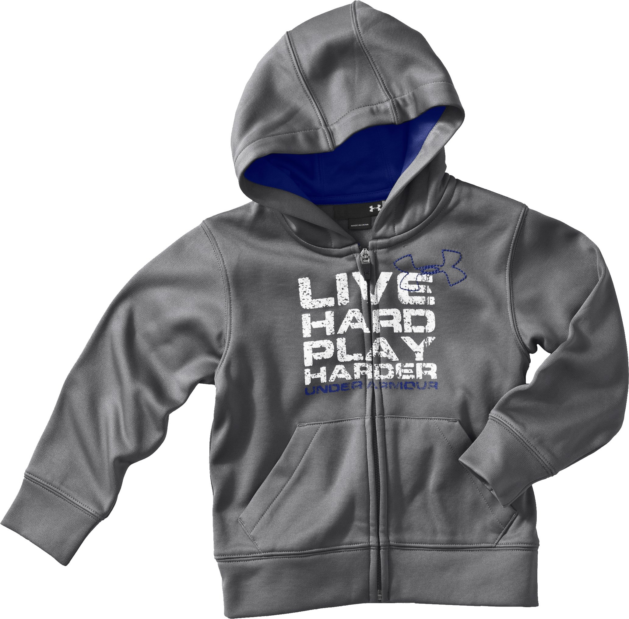 Boys' 4-7 Live Hard Hoodie, Carbon Heather