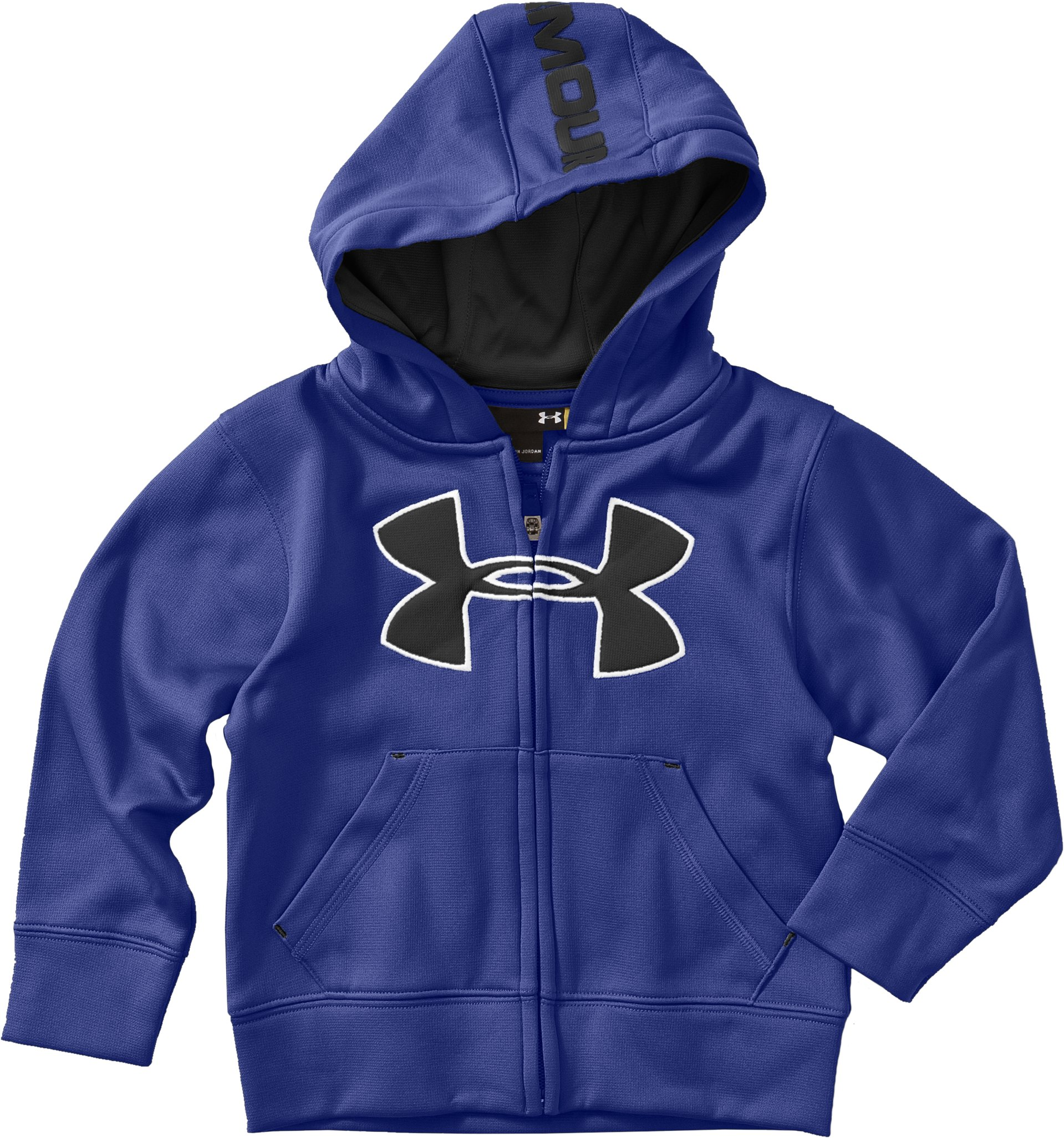 Boys' 4-7 Big Logo Fleece Hoodie, Royal, zoomed image