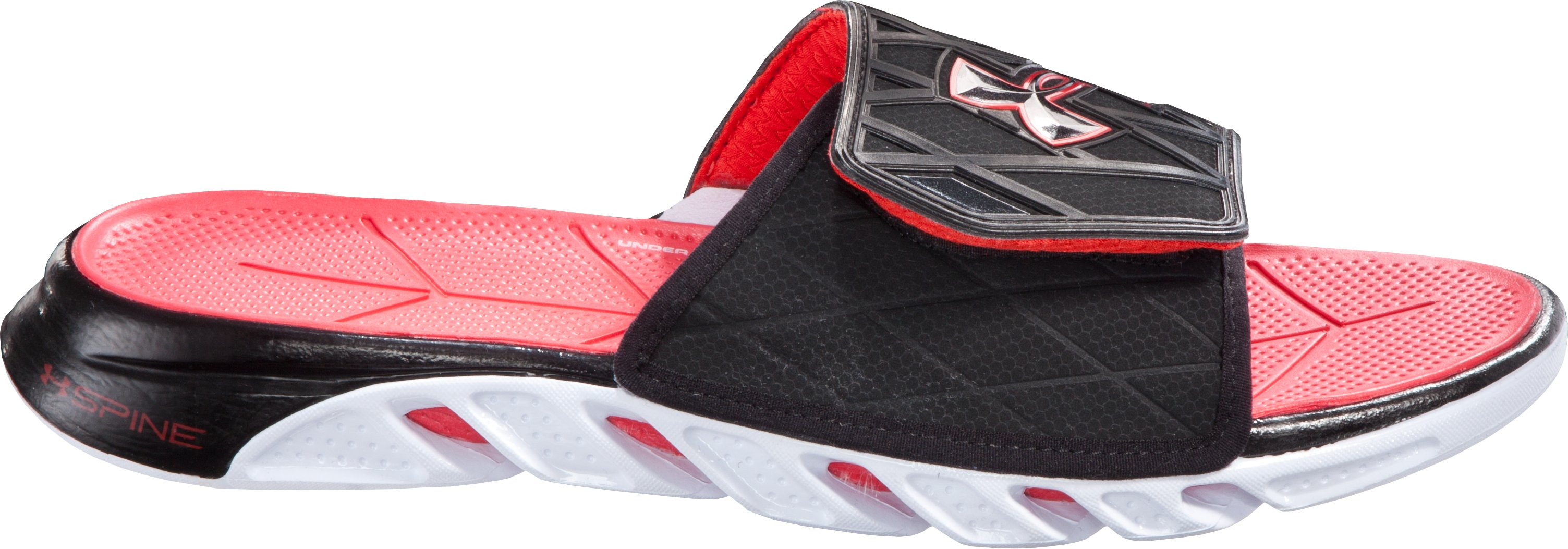 Men's UA Spine™ Slides, Black , zoomed image