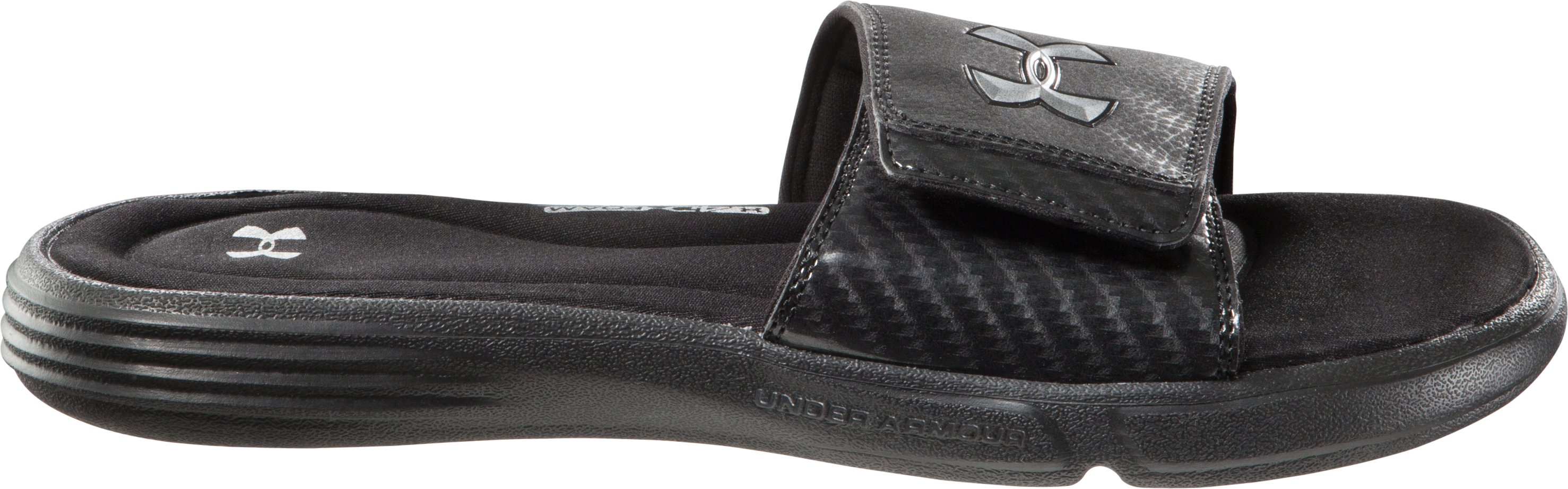 Men's UA Ignite III Slides, Black , undefined