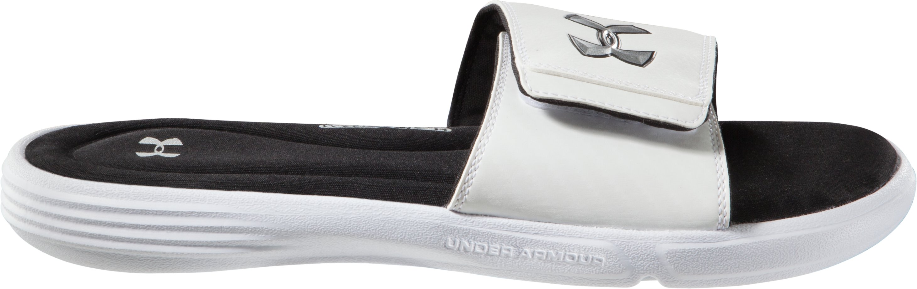 Men's UA Ignite III Slides, White