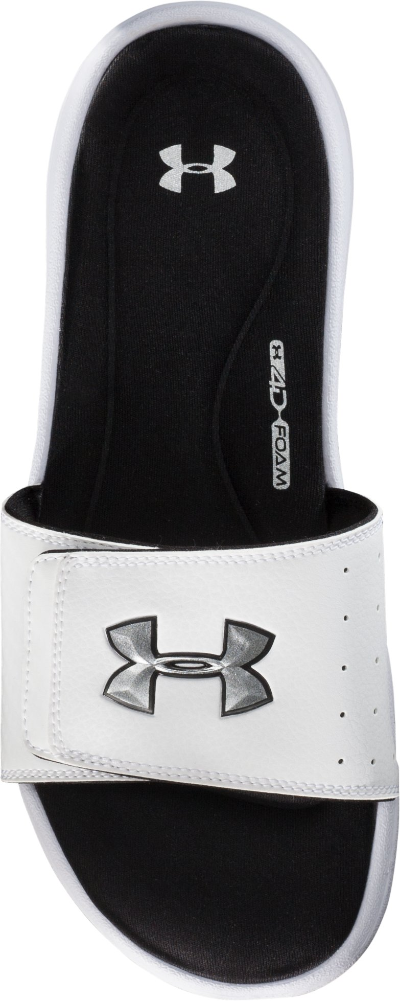 Men's UA Ignite III Slides, White, undefined