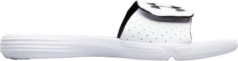 Men's UA Playmaker III Slide, White,