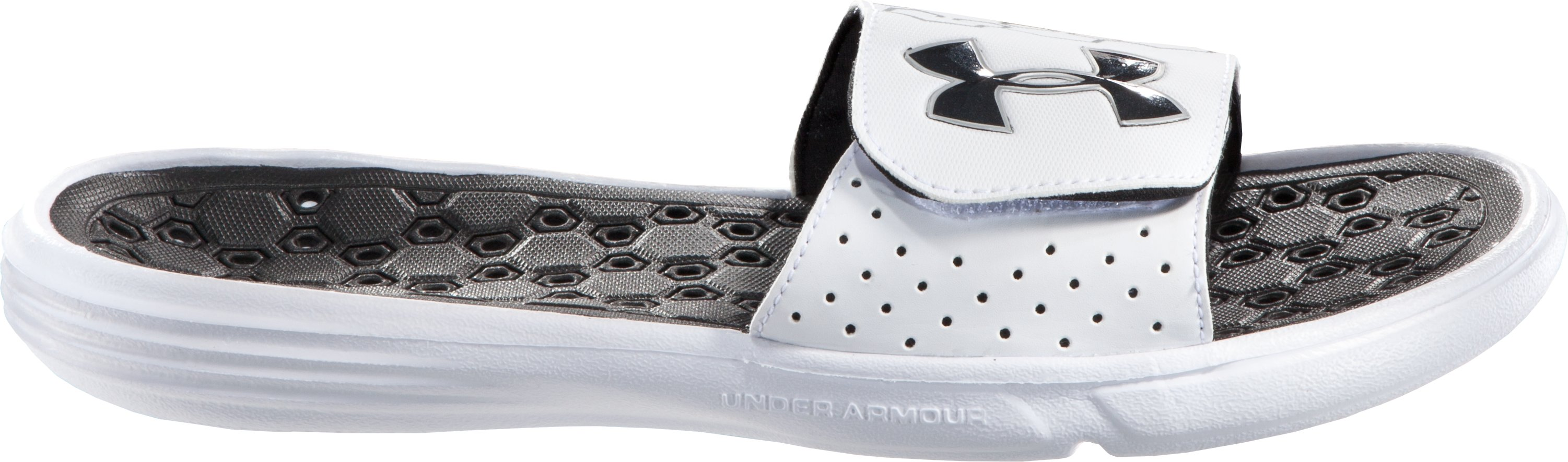 Men's UA Playmaker III Slide, White, zoomed image