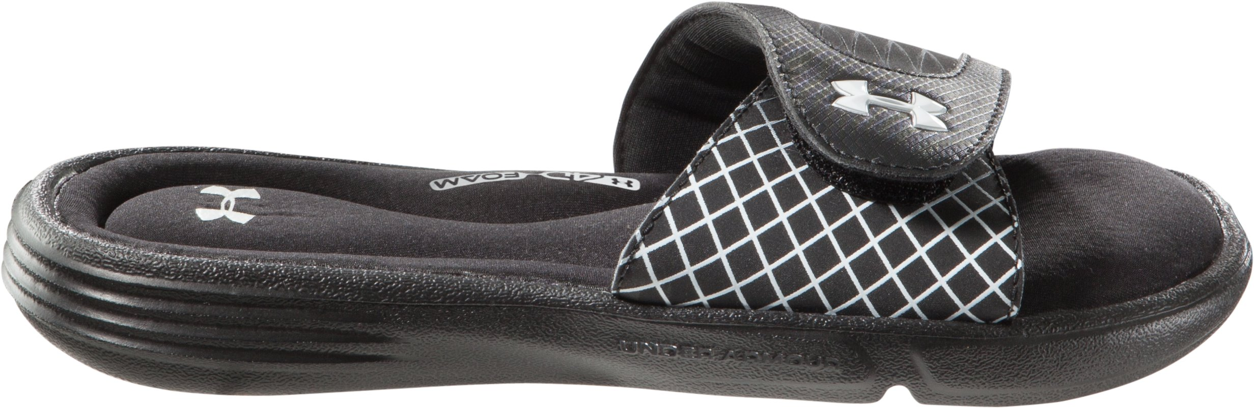 Girls' UA Ignite V Slides, Black , zoomed image