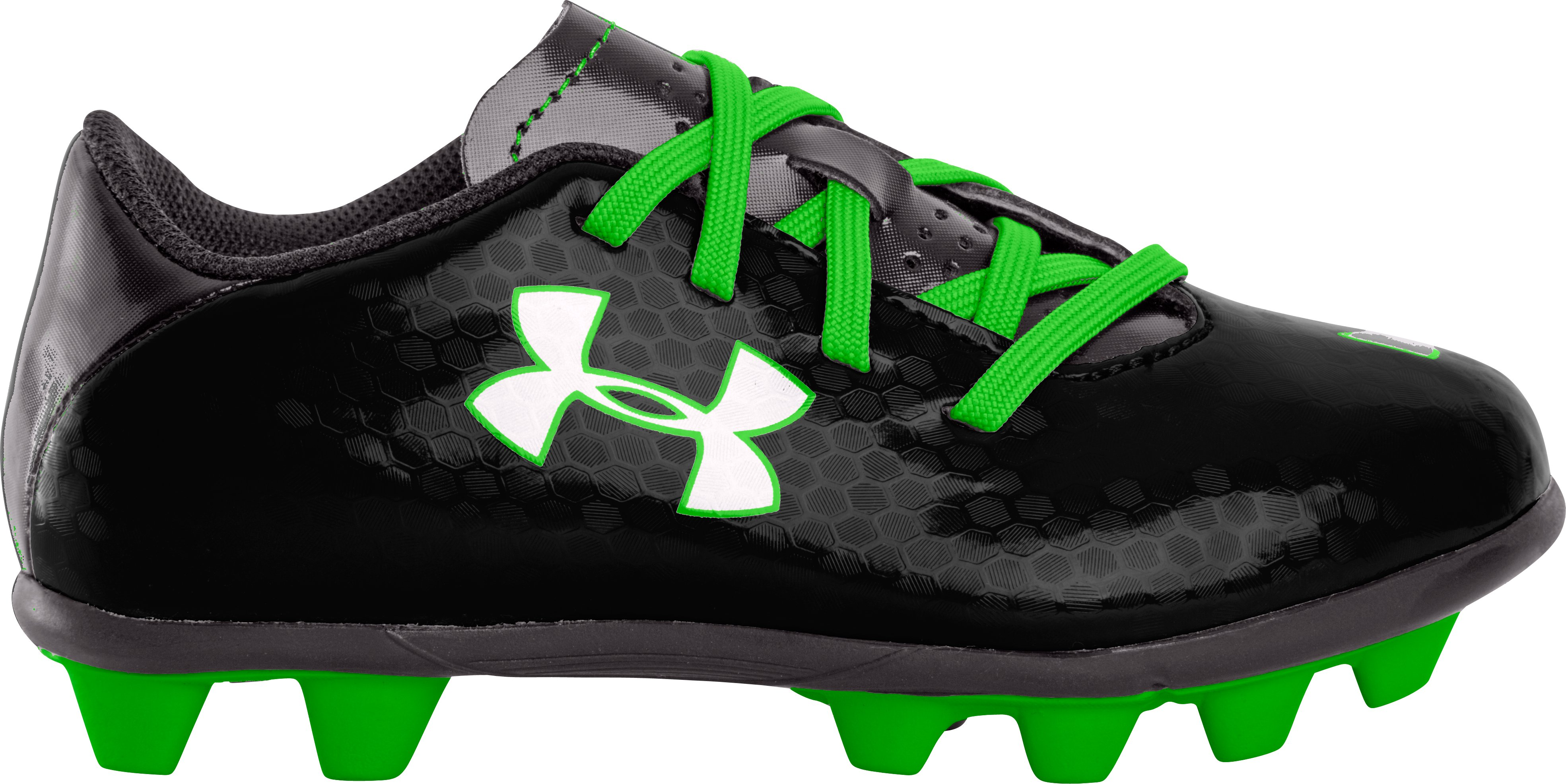 Kids' UA Blur III HG Soccer Cleats, Black , zoomed image