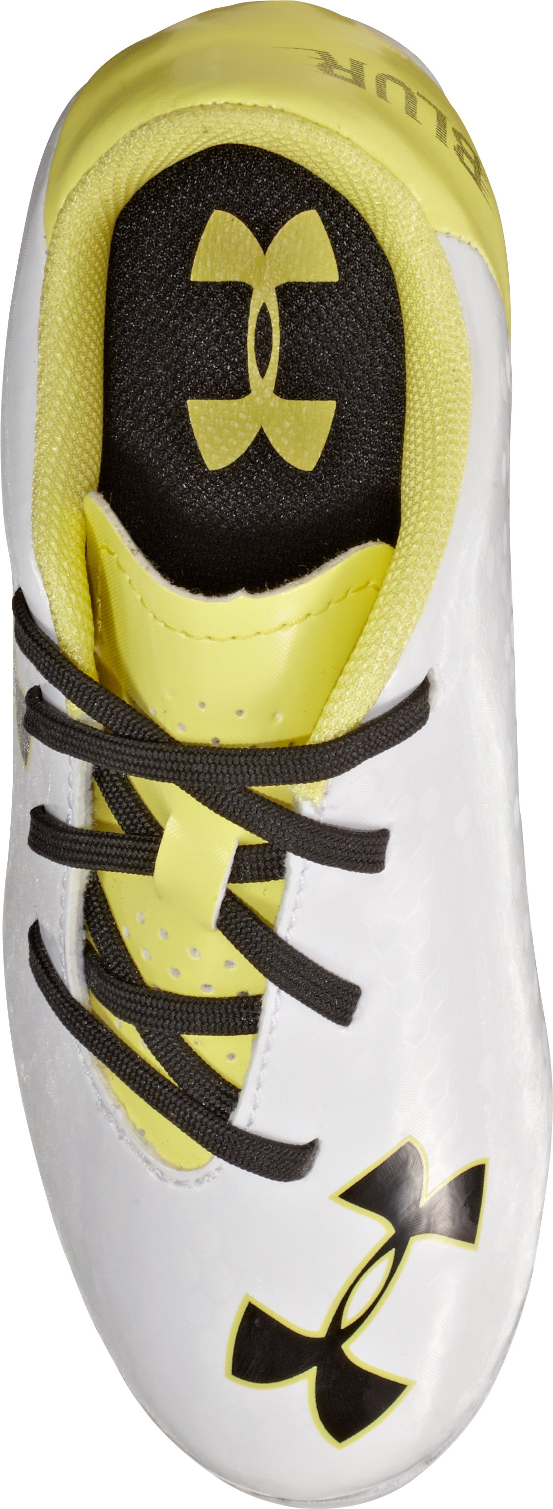 Kids' UA Blur III HG Soccer Cleats, White, undefined