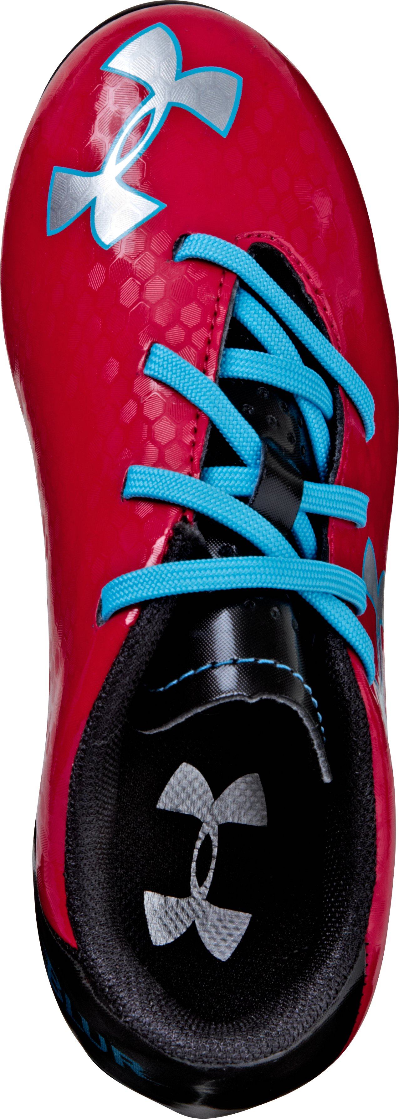 Kids' UA Blur III HG Soccer Cleats, Red