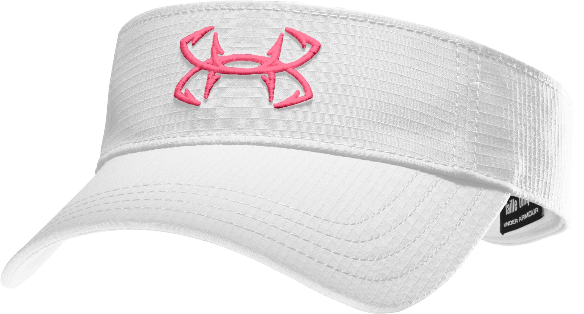 Women's UA Fish Hook Visor, White