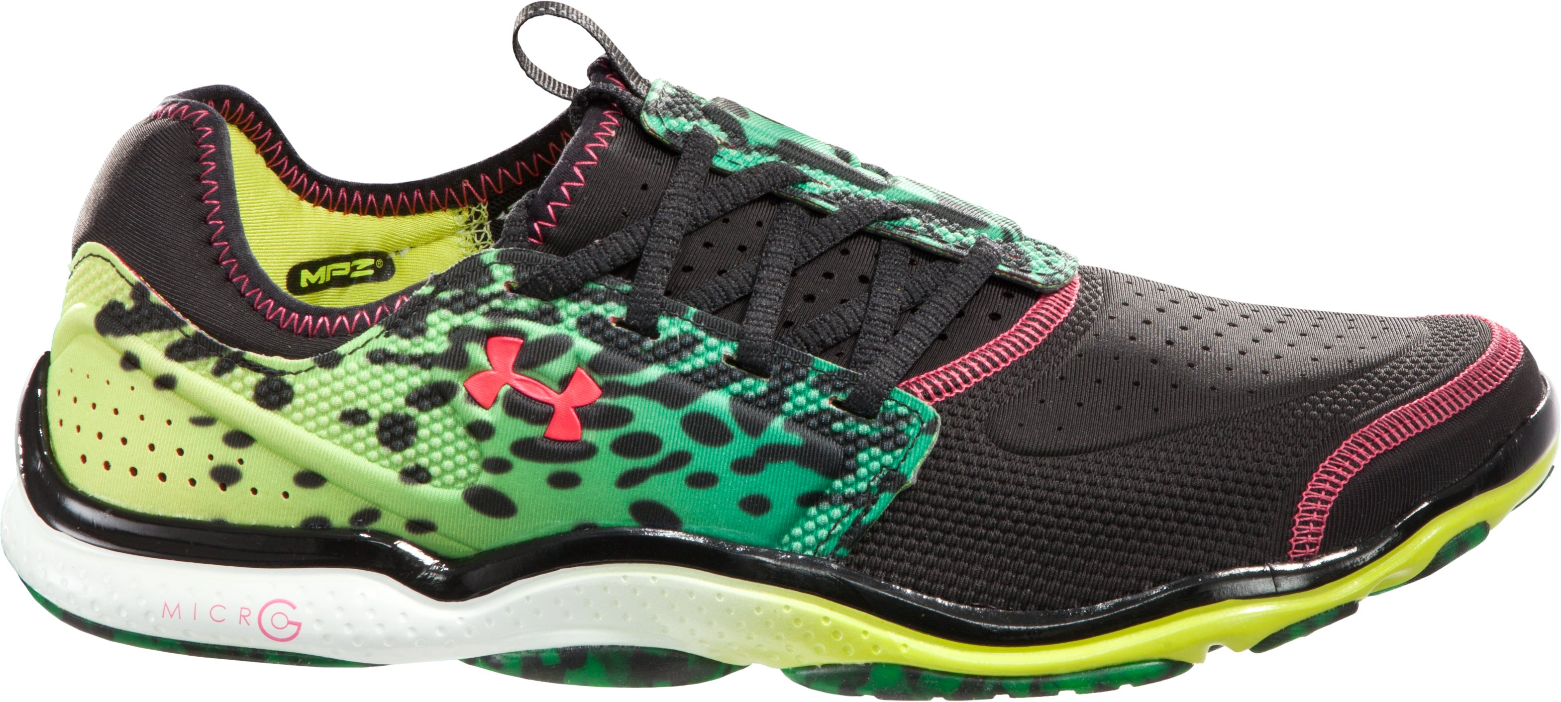 Men's UA Micro G® Toxic Six Running Shoes, Black , zoomed image