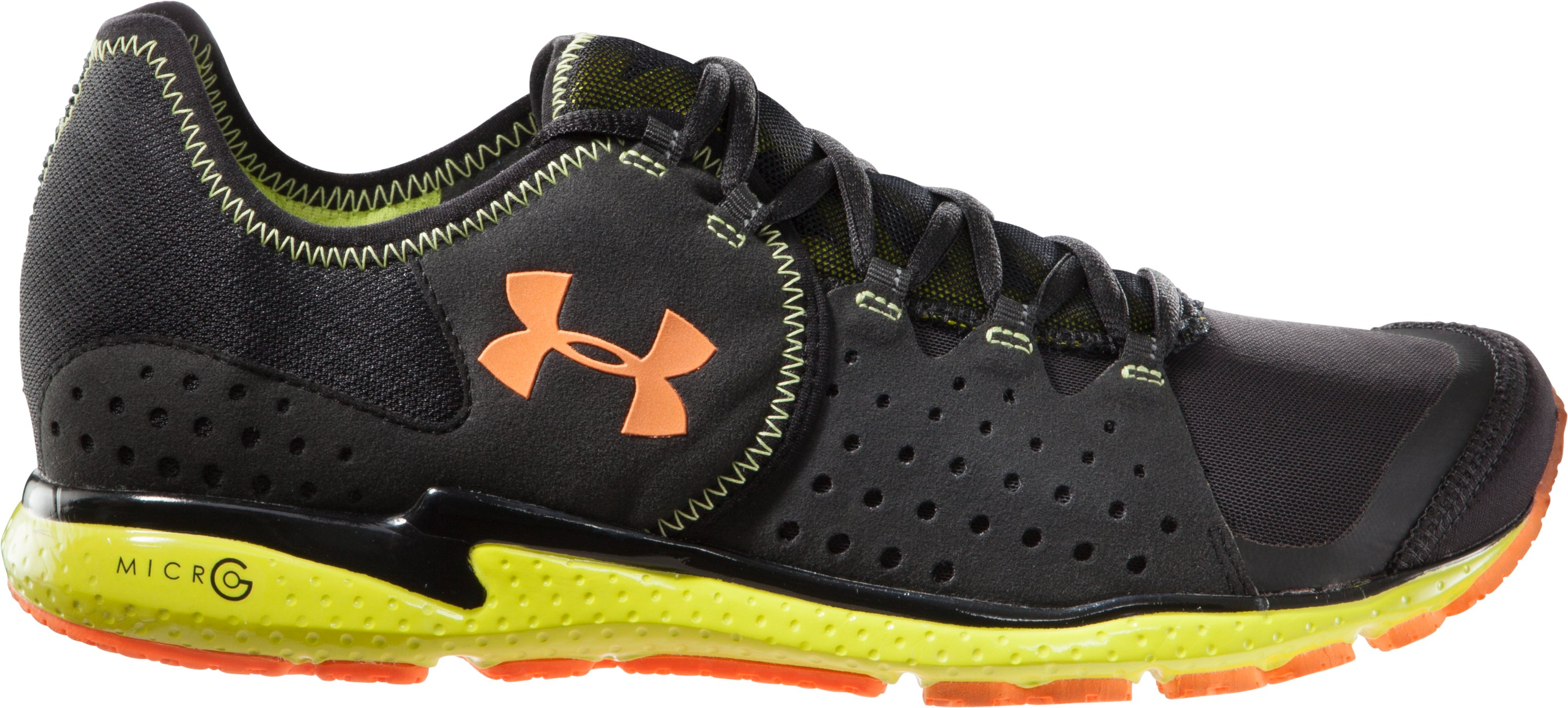 Men's UA Micro G® Mantis Running Shoes, Black , zoomed image