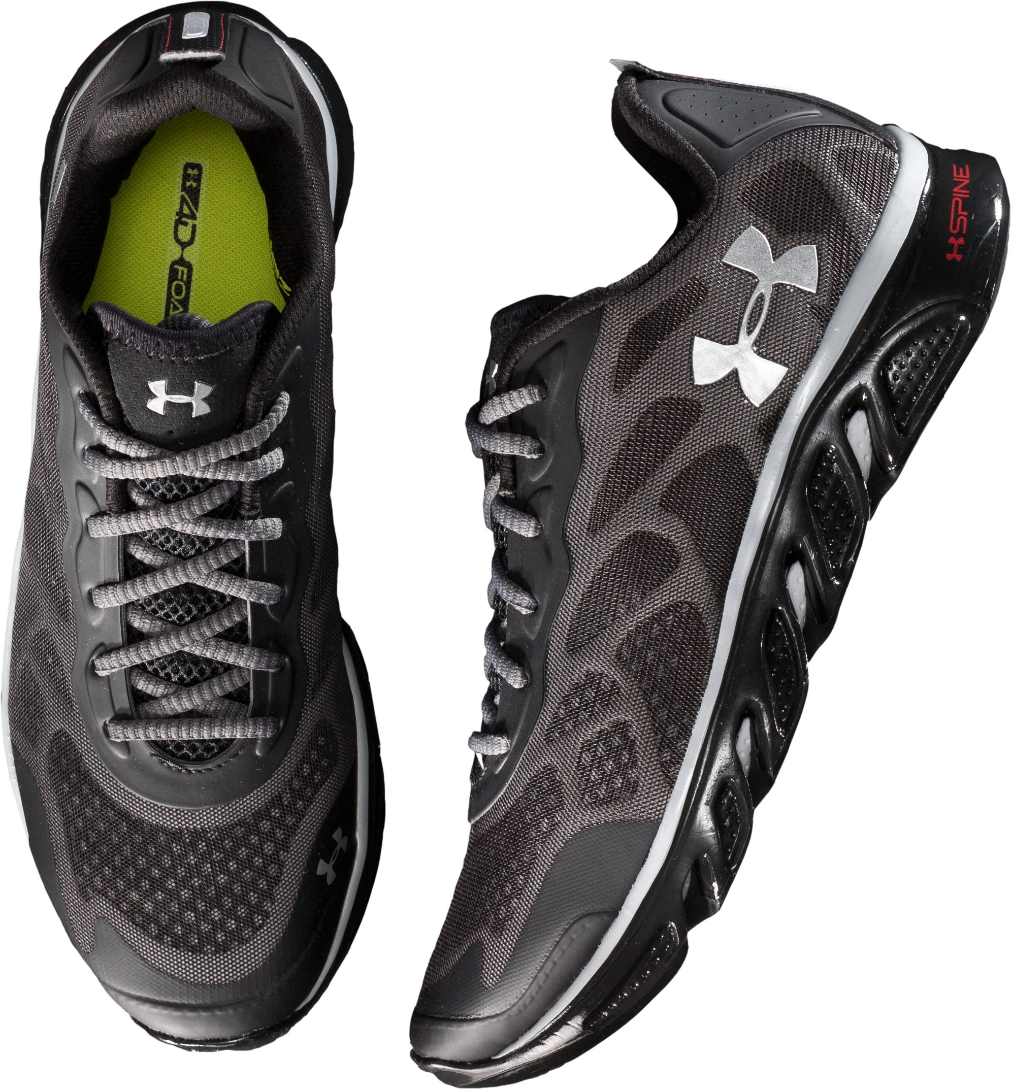 Men's UA Spine™ Venom Running Shoes, Black ,