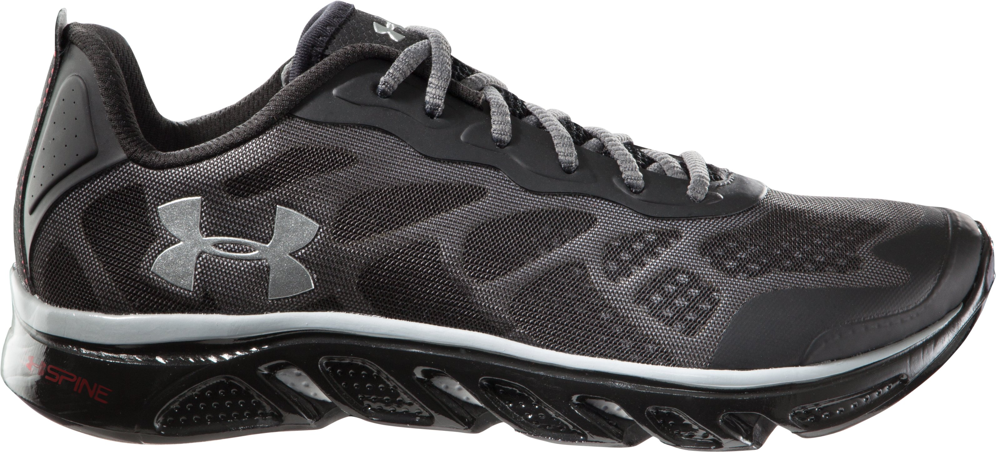 Men's UA Spine™ Venom Running Shoes, Black , zoomed image