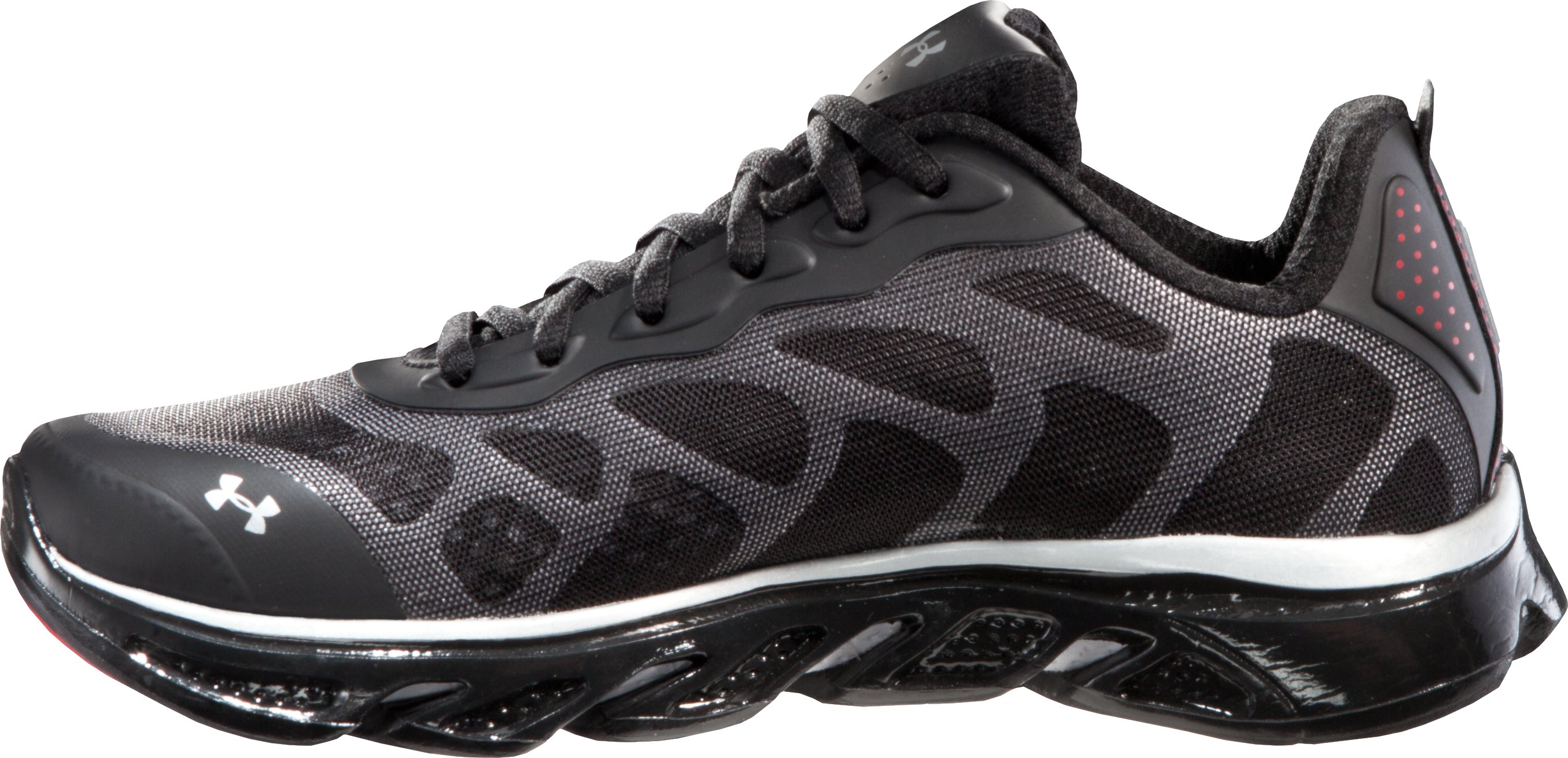 Boys' UA Spine™ Venom Grade School Running Shoes, Black ,