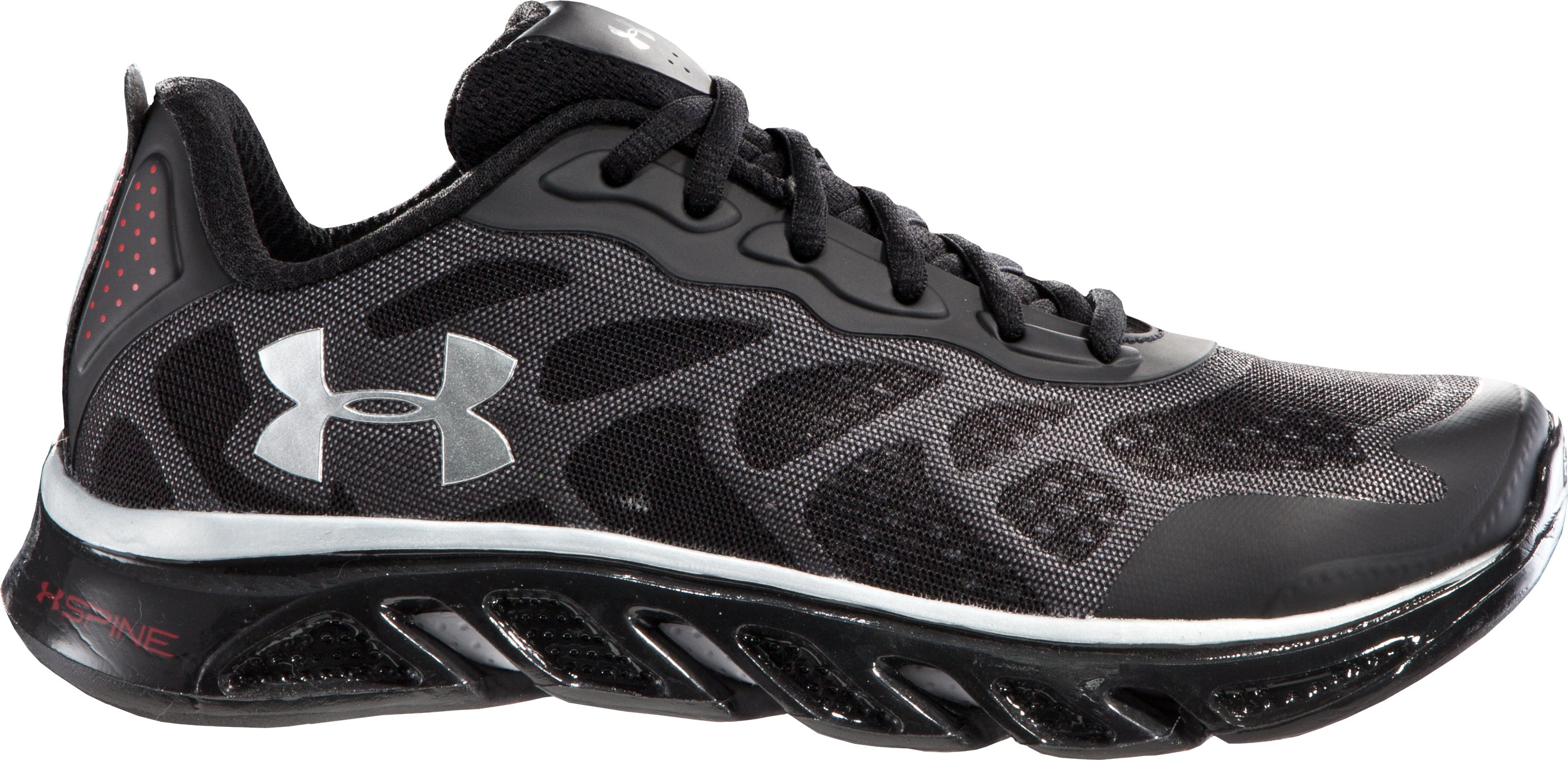 Boys' UA Spine™ Venom Grade School Running Shoes, Black