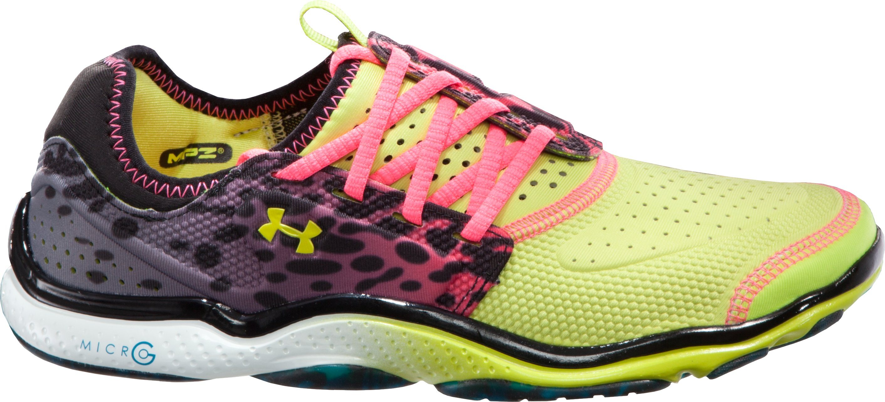 Women's UA Micro G® Toxic Six Running Shoes, Bitter, zoomed image