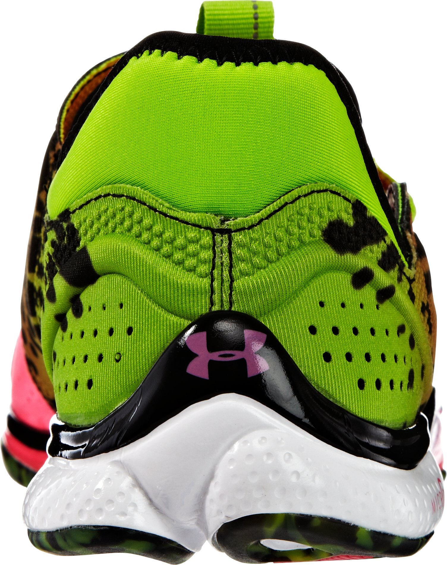 Women's UA Micro G® Toxic Six Running Shoes, HYPER GREEN