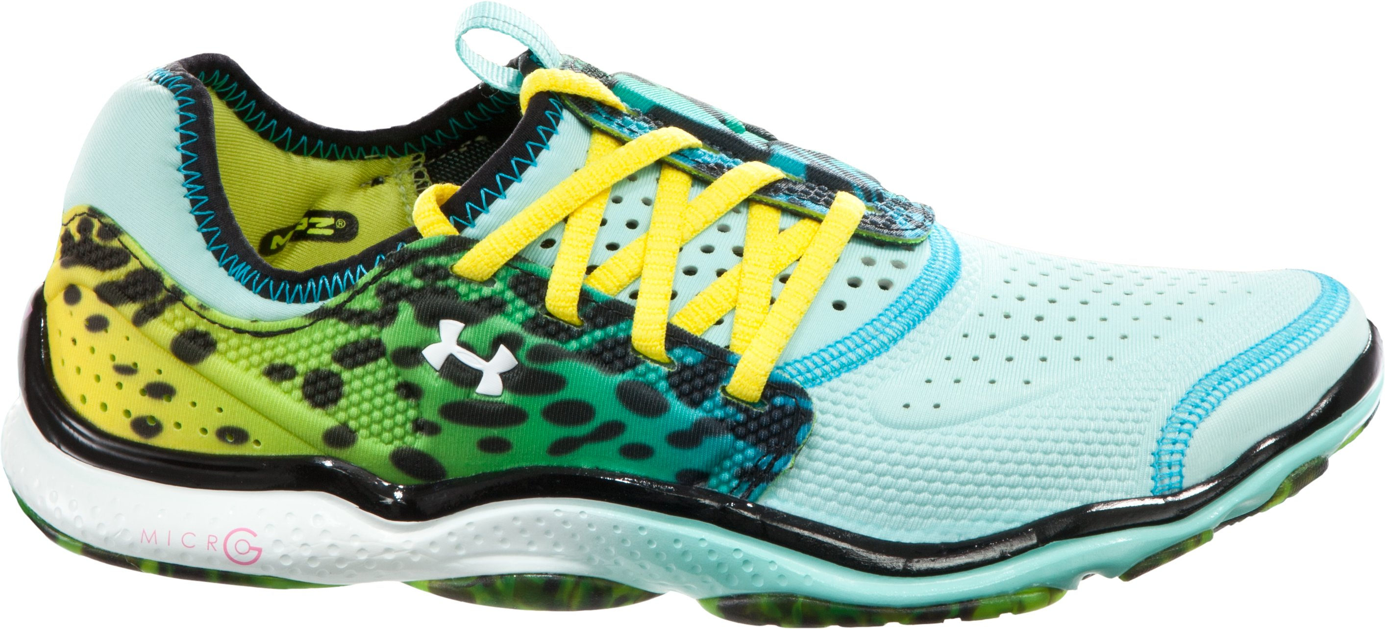 Women's UA Micro G® Toxic Six Running Shoes, Veneer, zoomed image