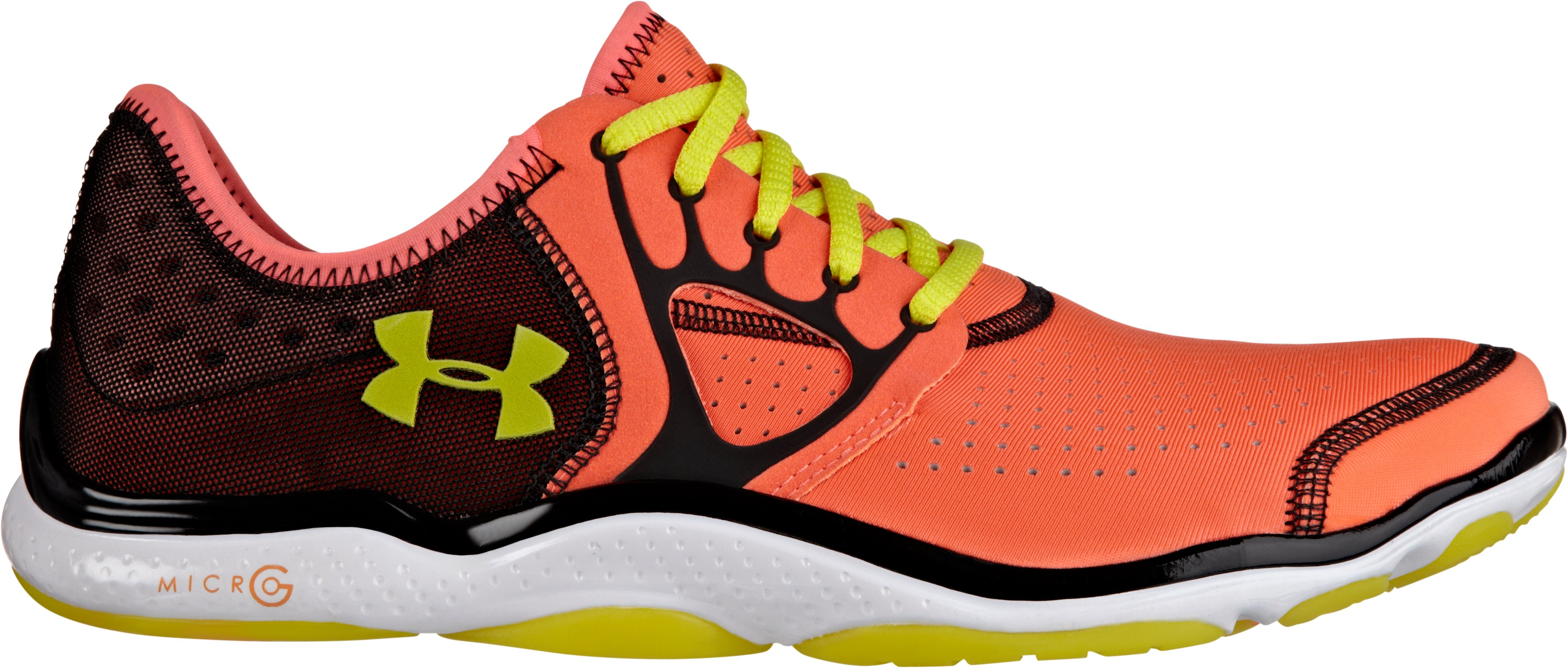 Women's UA FTHR Radiate, ELECTRIC TANGERINE, zoomed image
