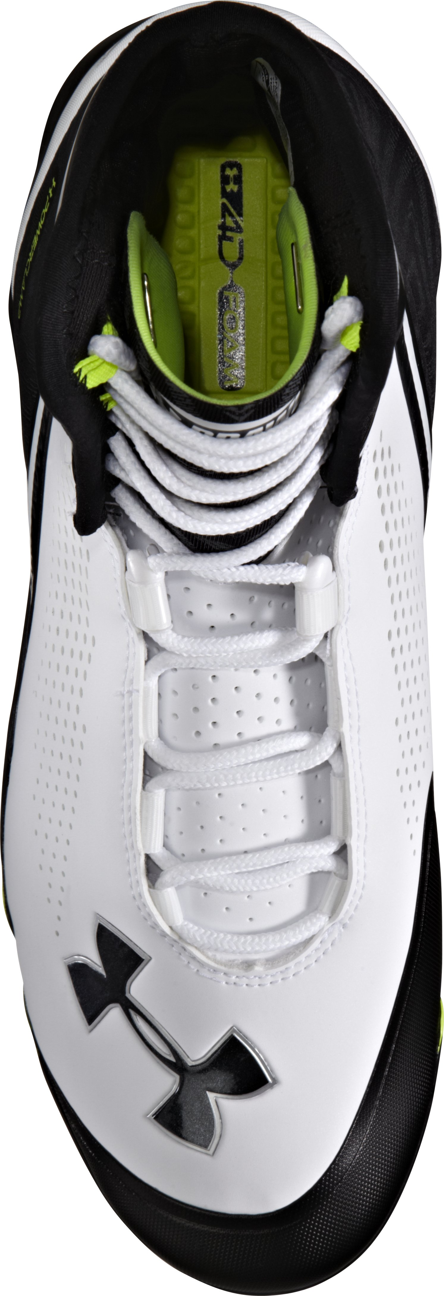 Men's UA Spine™ Brawler Mid Football Cleats, White, undefined
