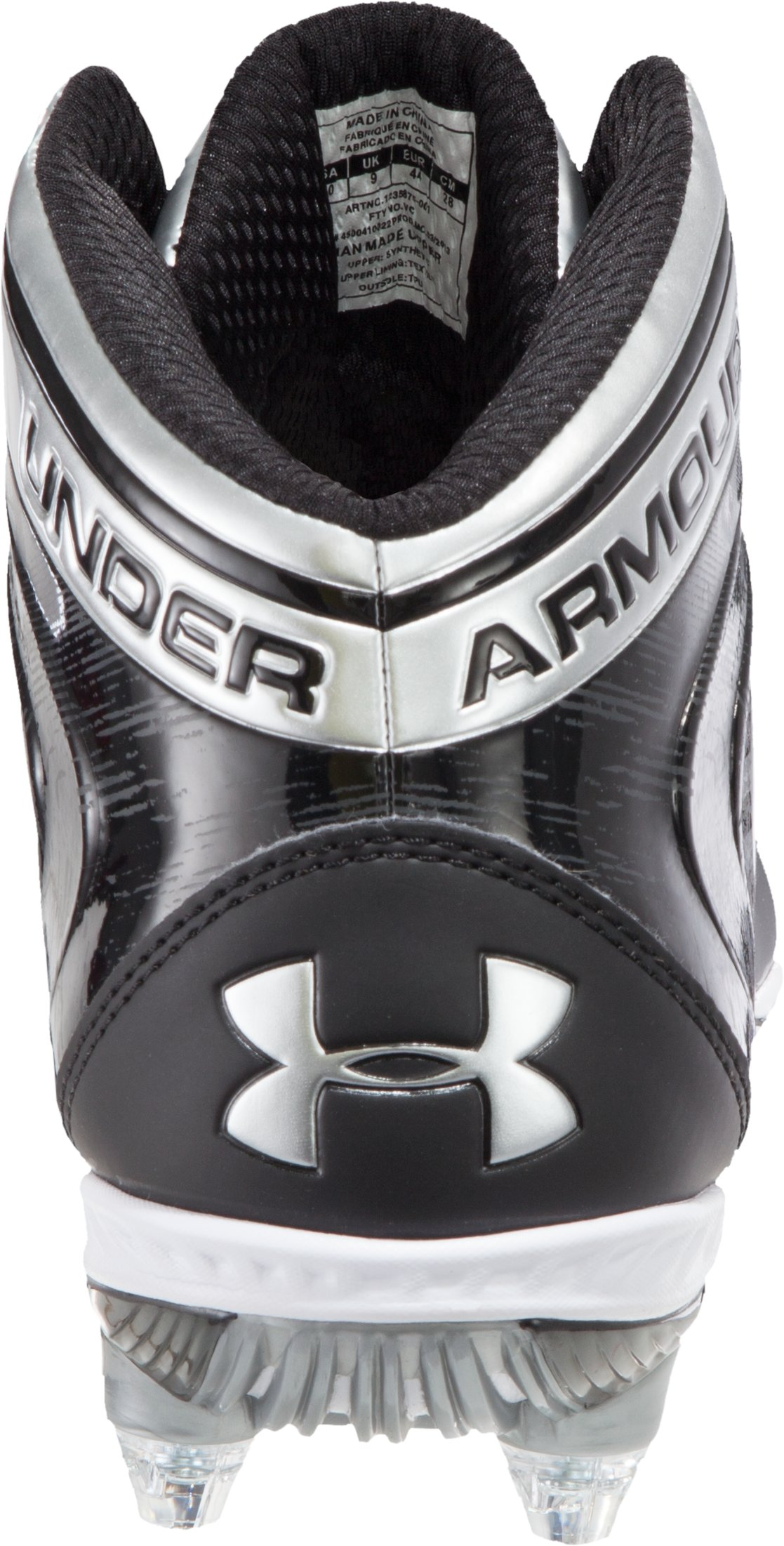 Men's UA Saber Mid D Football Cleats, Black