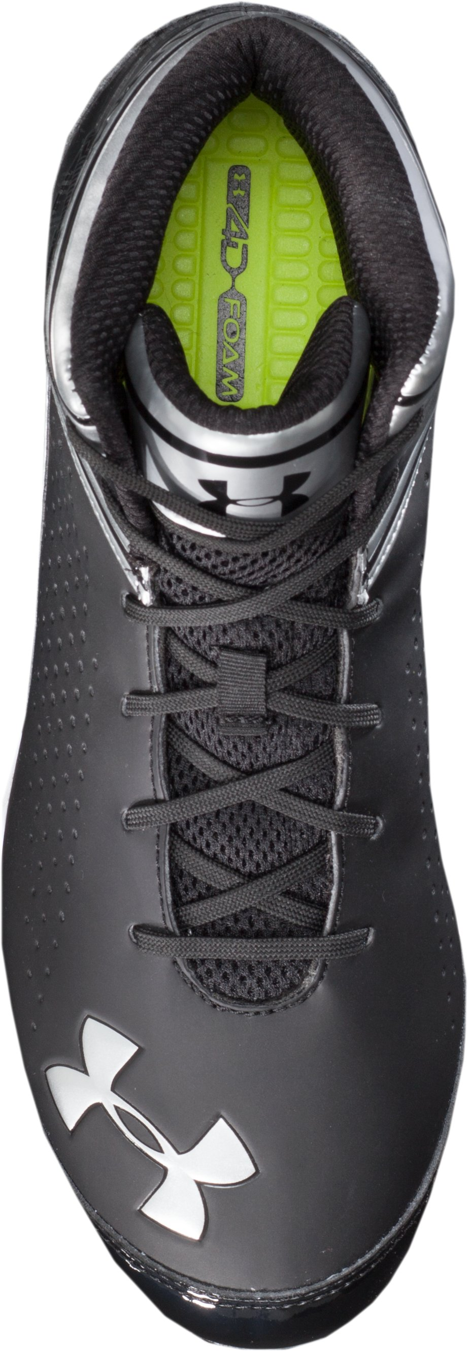Men's UA Saber Mid D Football Cleats, Black ,