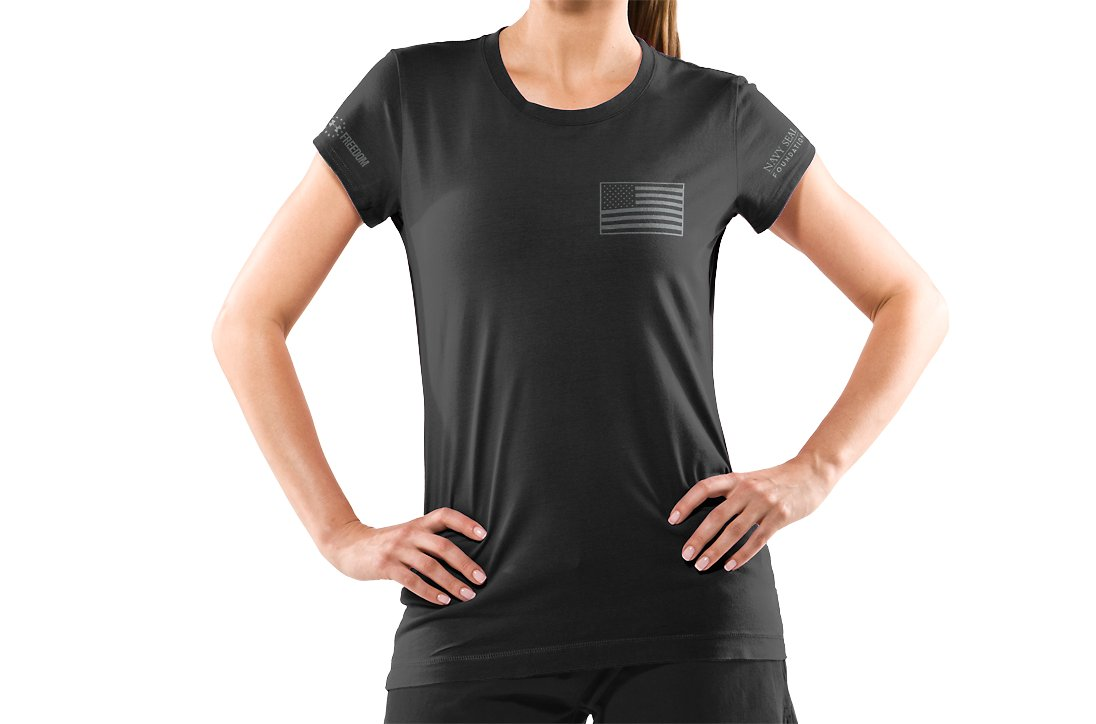 Women's Navy Seal Foundation T-Shirt, Black