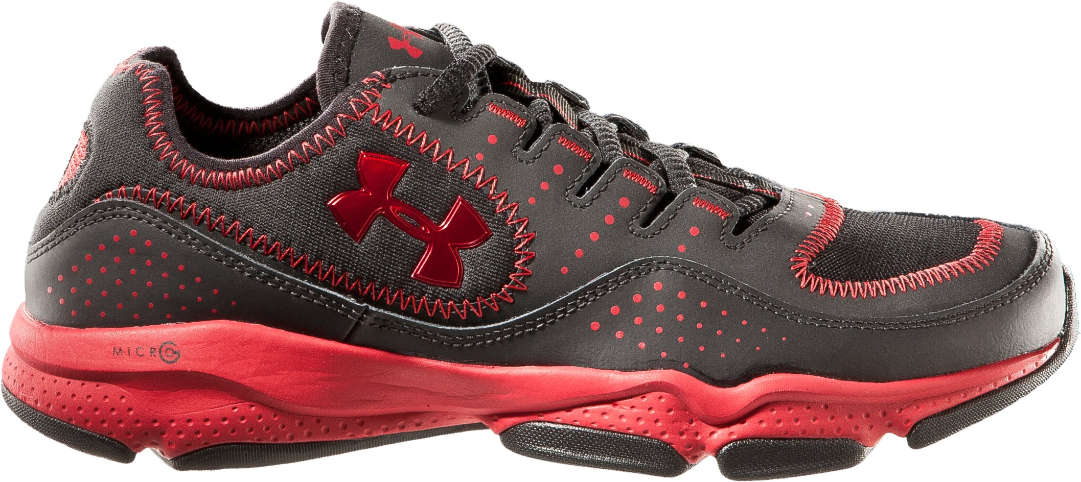 Boys' UA Defend Grade School Training Shoes, Black