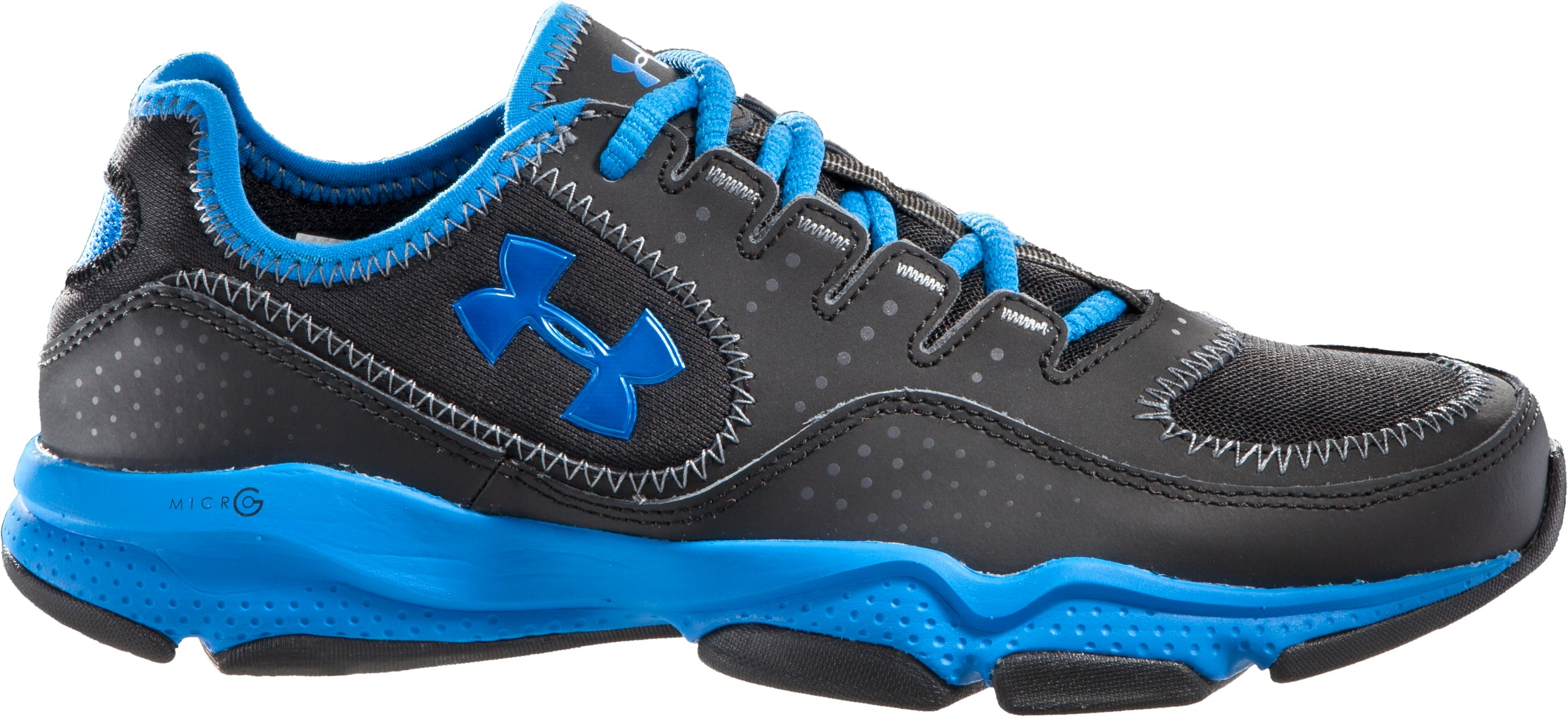 Boys' UA Defend Grade School Training Shoes, Black , zoomed image