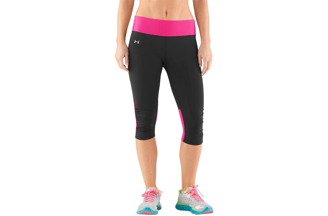 Women's UA Fly-By Compression Capri, Black , zoomed image