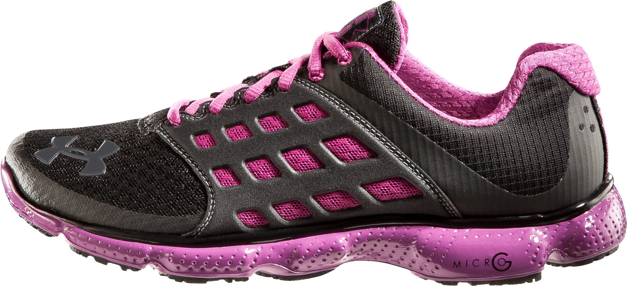Women's UA Micro G® Connect Running Shoes, Black , zoomed image