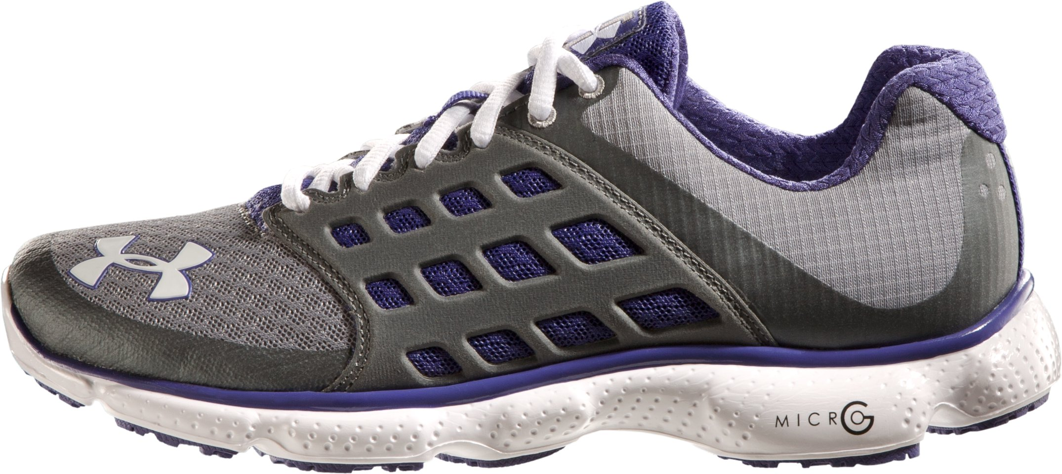 Women's UA Micro G® Connect Running Shoes, Steel, zoomed image