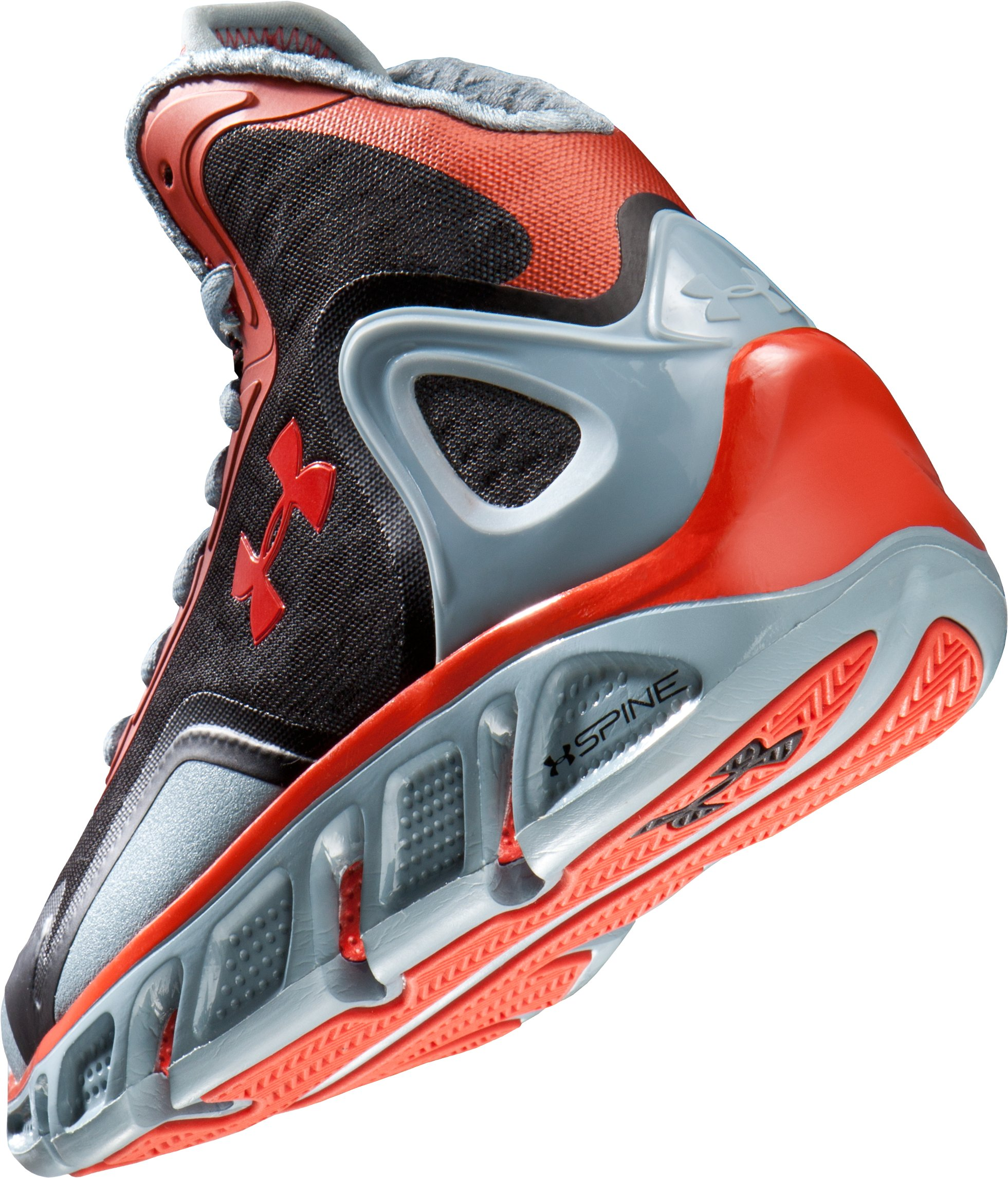 Boys' UA Spine™ Bionic Grade School Basketball Shoes, Solder,