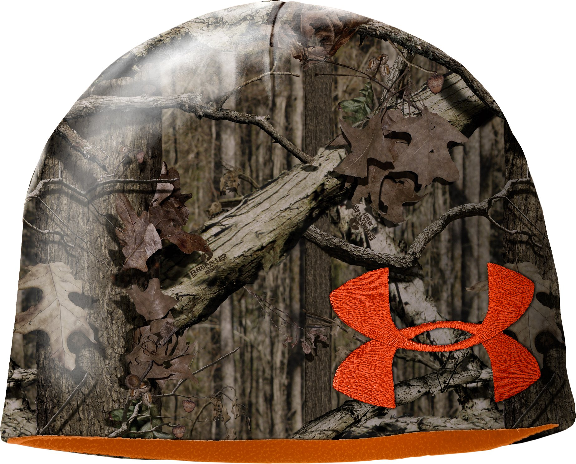 Men's UA Reversible Fleece Beanie, Mossy Oak Break-Up Infinity, zoomed image