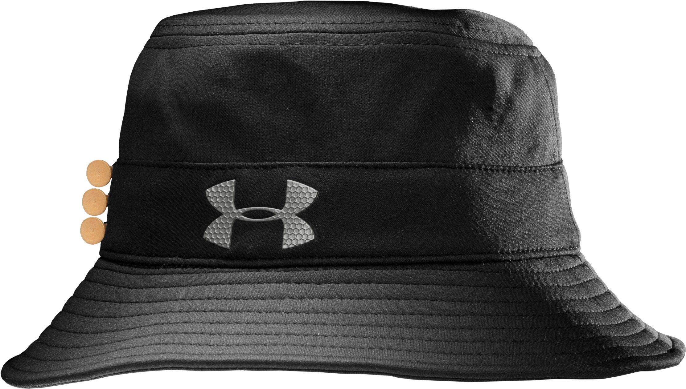 Men's coldblack® Bucket Golf Hat, Black , zoomed image