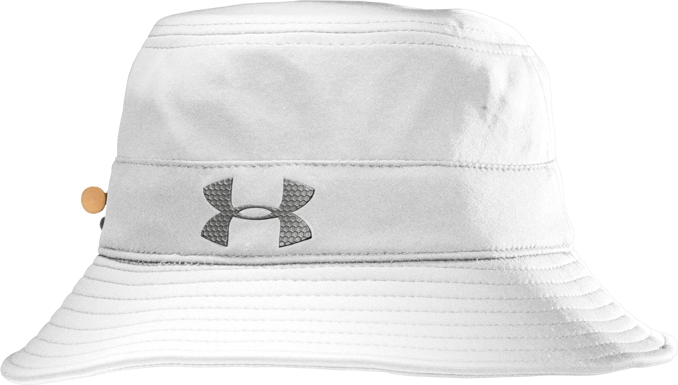 Men's coldblack® Bucket Golf Hat, White, zoomed image