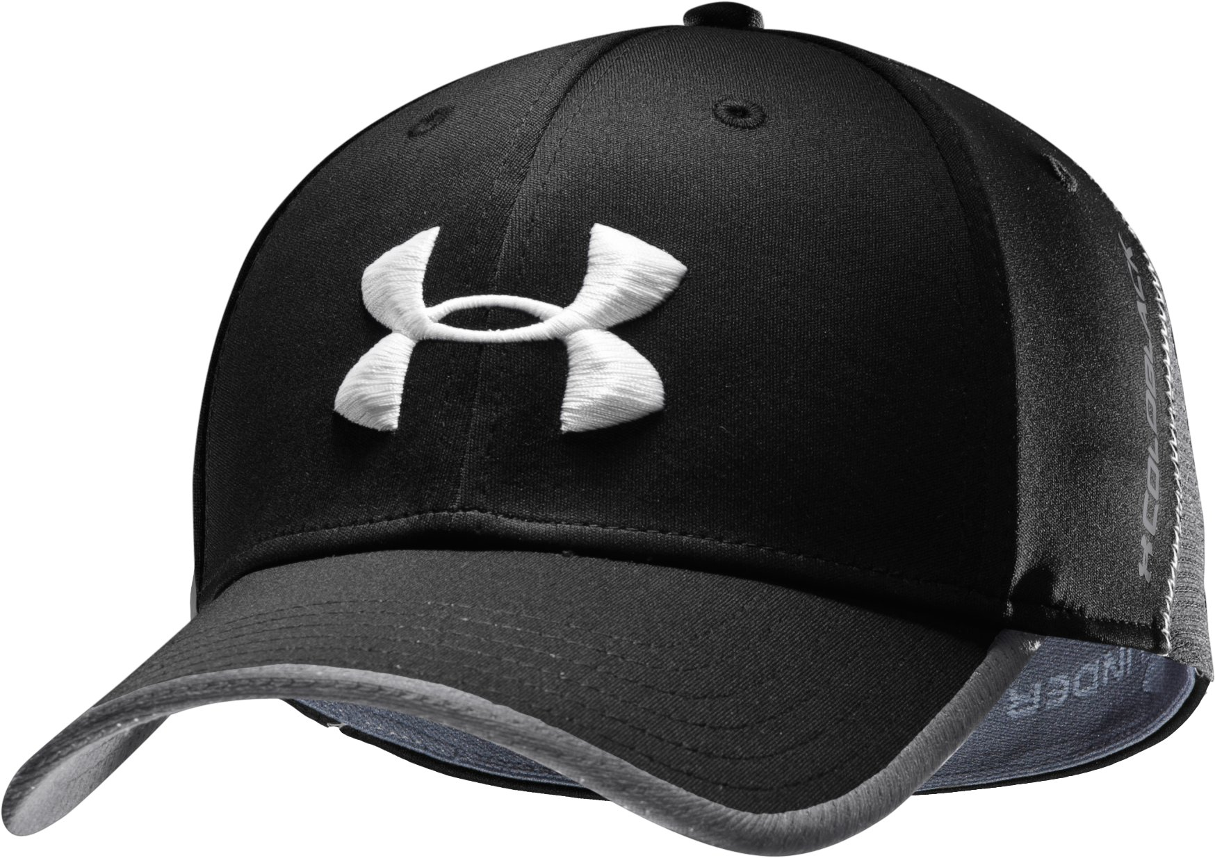 Men's coldblack® Focus Stretch Fit Golf Cap, Black , zoomed image