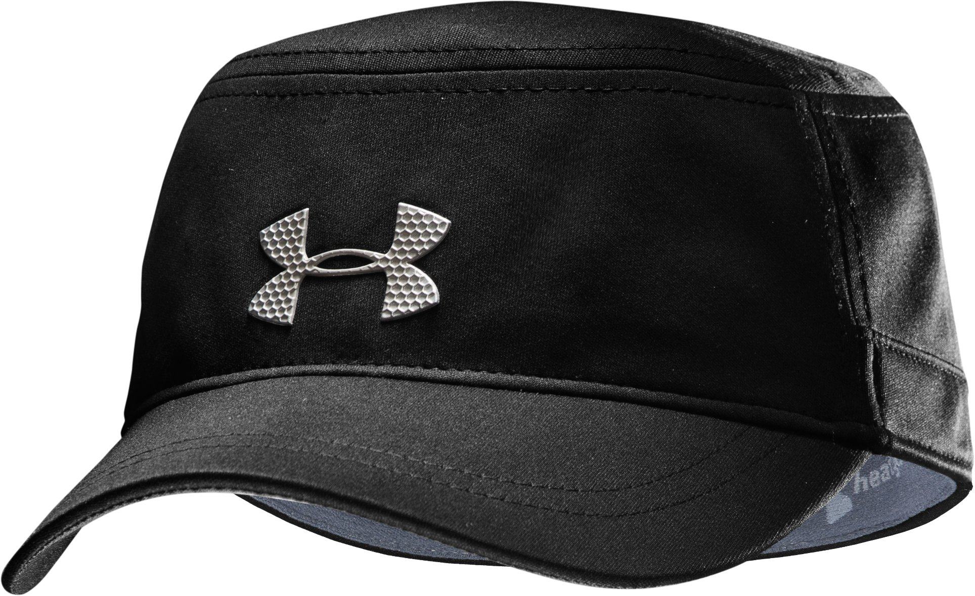 Men's UA Military Stretch Fit Cap, Black , zoomed image
