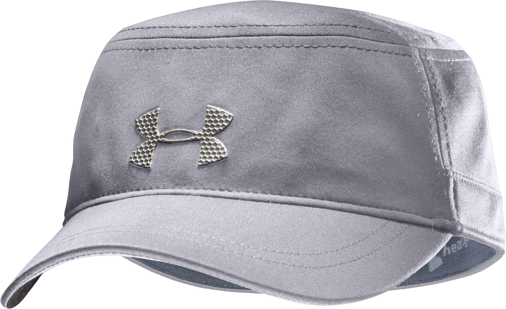 Men's UA Military Stretch Fit Cap, Aluminum, zoomed image