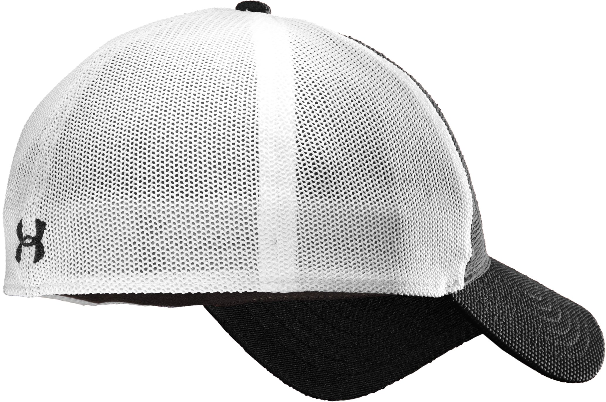 Men's UA Golf Mesh Stretch Fit Cap, Black