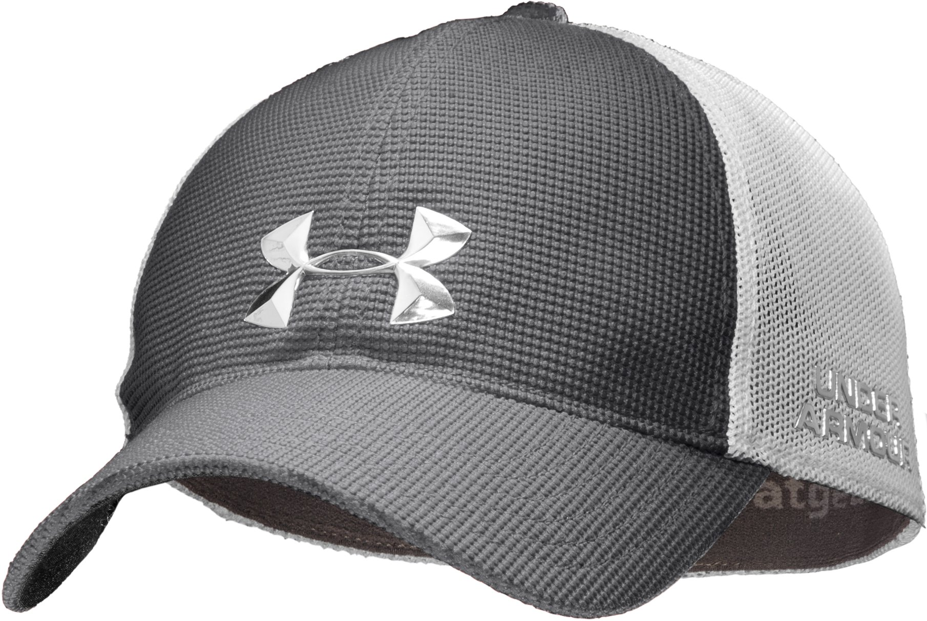 Men's UA Golf Mesh Stretch Fit Cap, Graphite, zoomed image