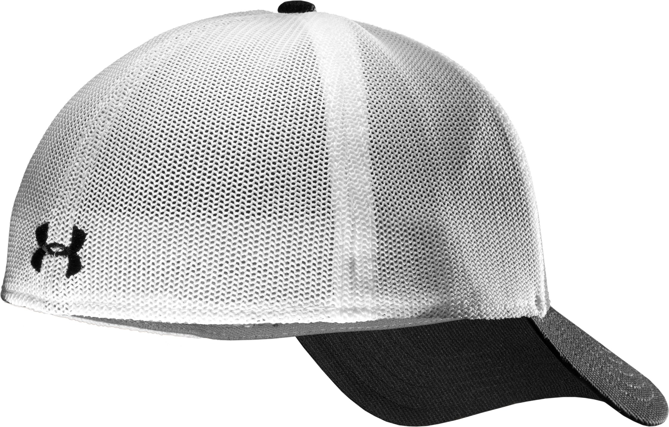 Men's UA Stealth Stretch Fit Cap, Black , undefined