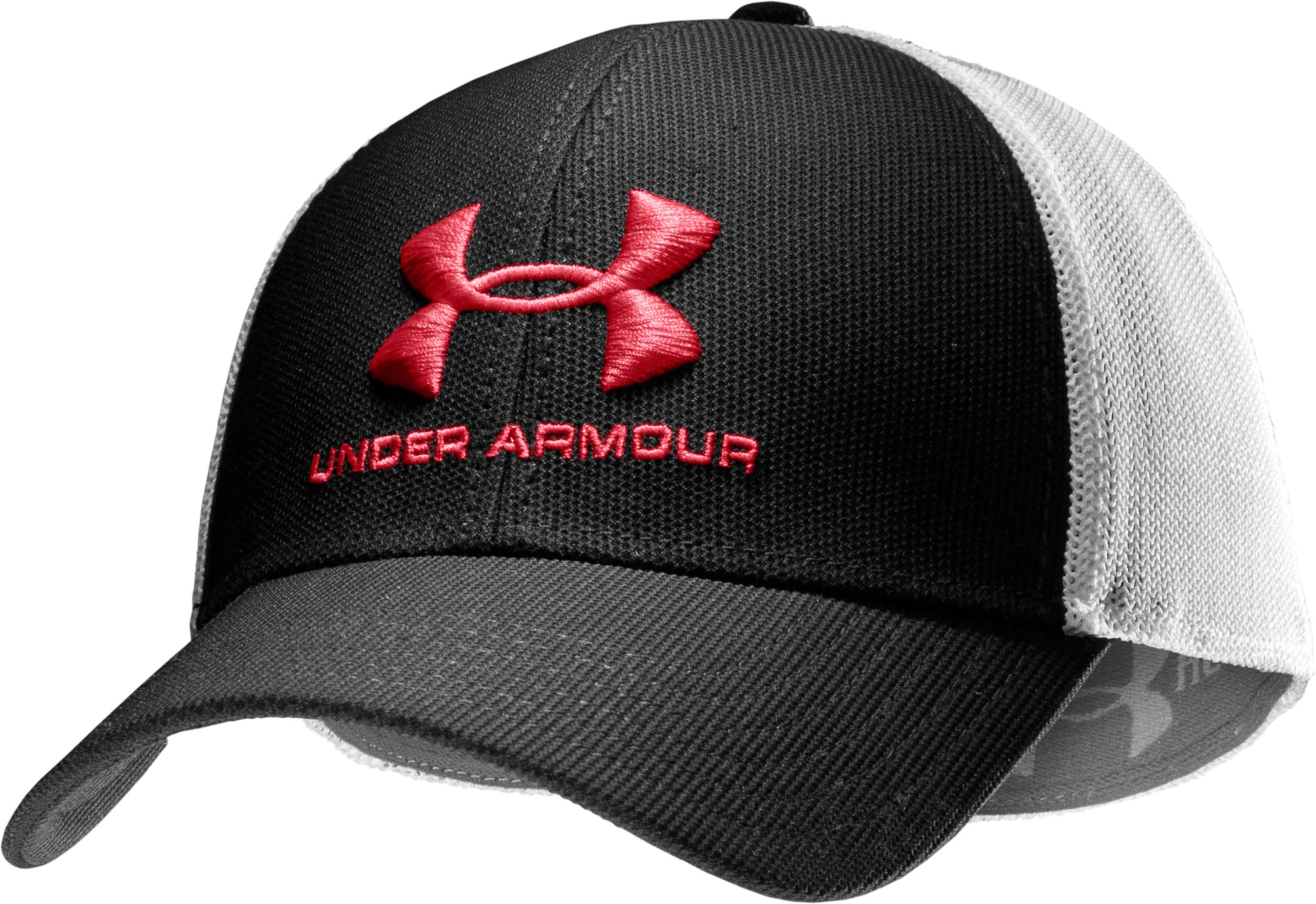 Men's UA Stealth Stretch Fit Cap, Black , zoomed image