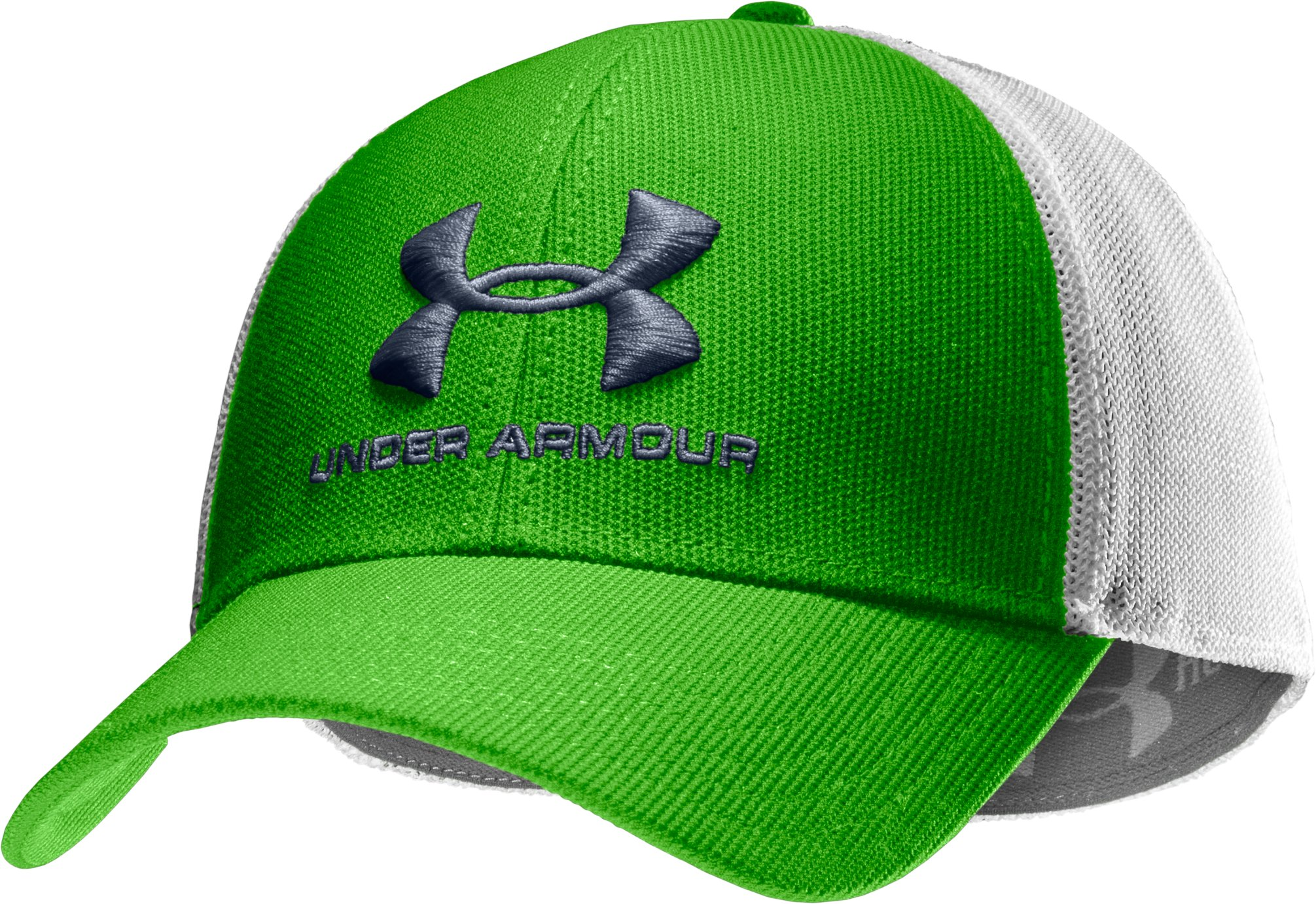 Men's UA Stealth Stretch Fit Cap, PARROT GREEN, zoomed image