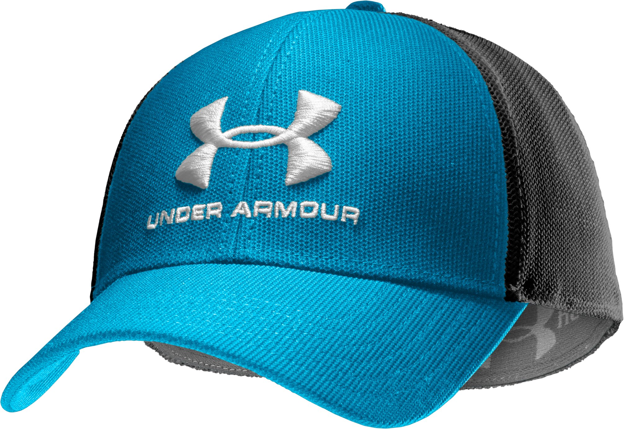 Men's UA Stealth Stretch Fit Cap, SNORKEL, zoomed image