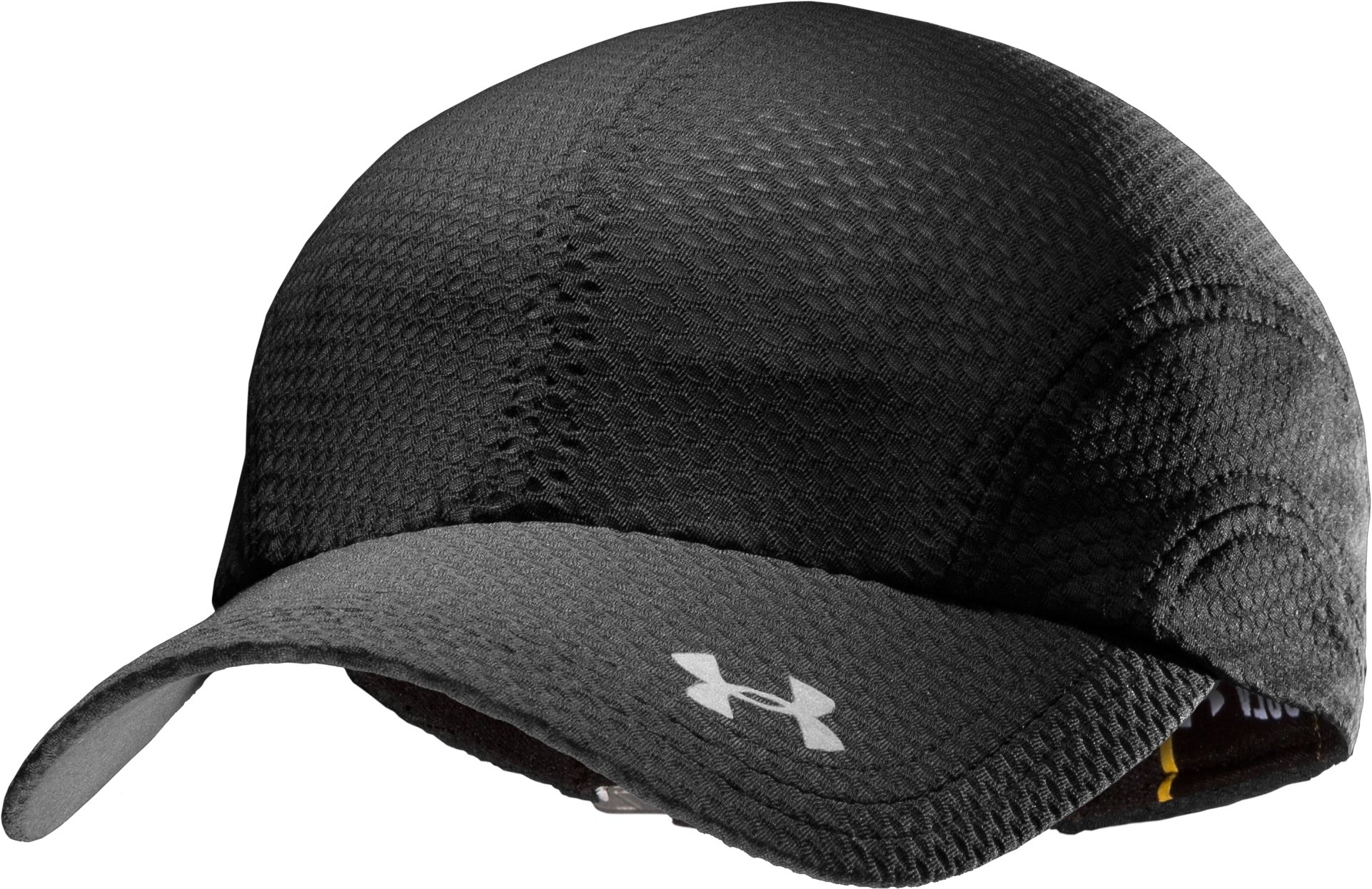 Women's UA Escape Adjustable Run Hat, Black , zoomed image