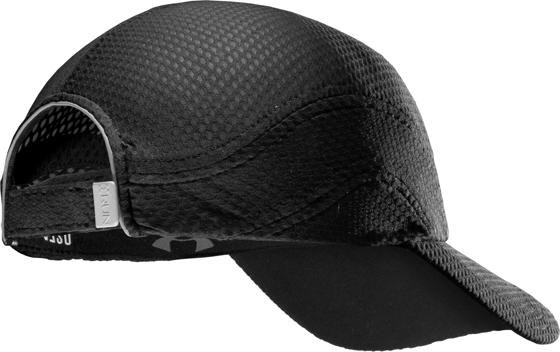 Women's UA Escape Adjustable Run Hat, Black , undefined