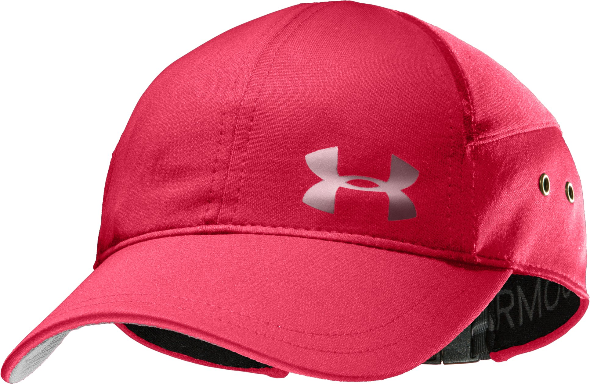 Women's UA ColdBlack® Run Cap, Hibiscus, zoomed image