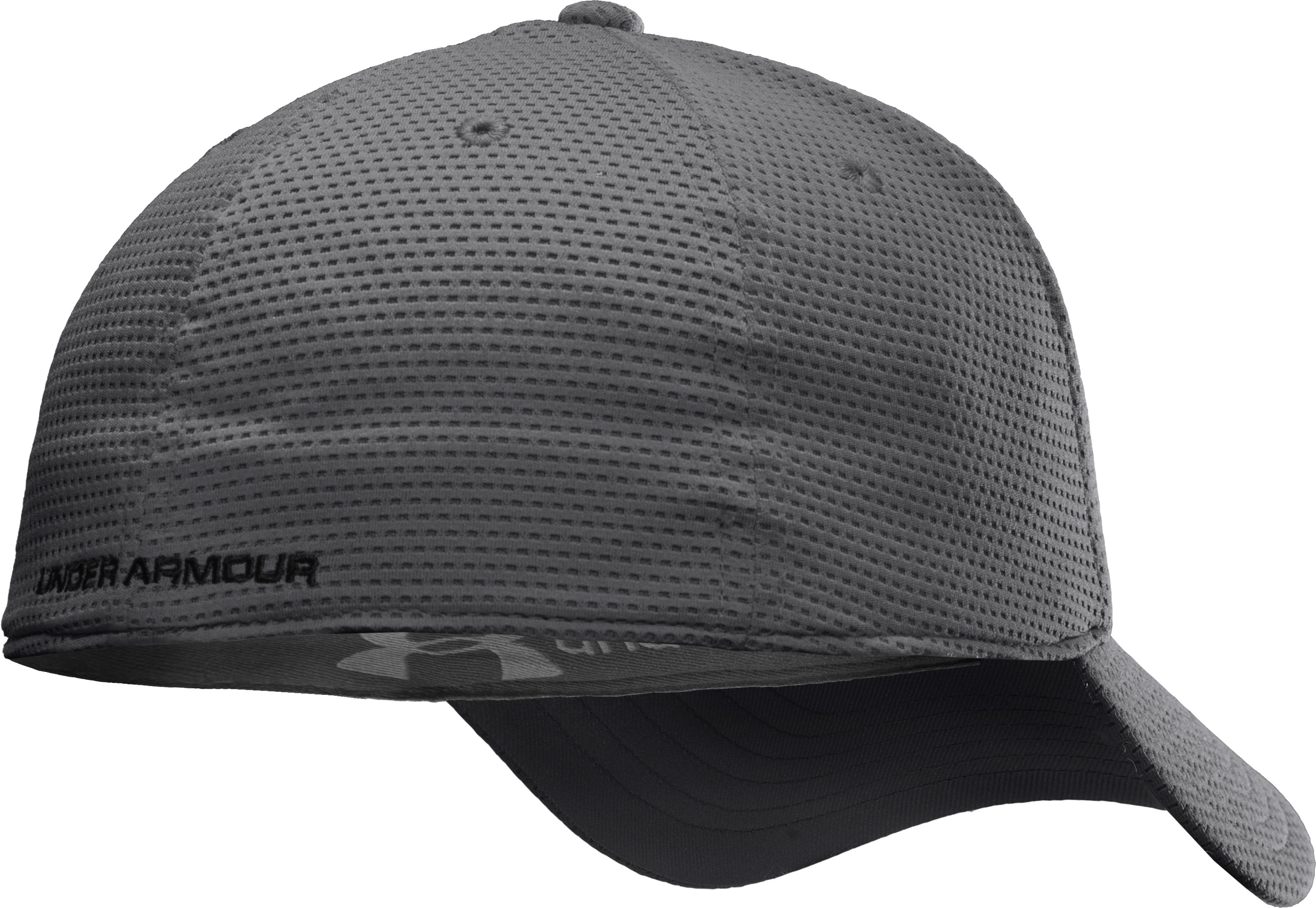 Boys' UA Blitzing Stretch Fit Cap, Graphite
